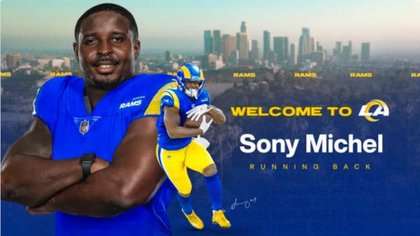 Sony Michel, Running Back adquirido pelo Los Angeles Rams