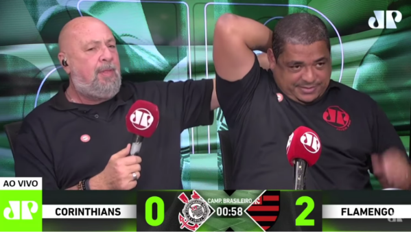 Vampeta sofreu com derrota do Corinthians para o Flamengo.
