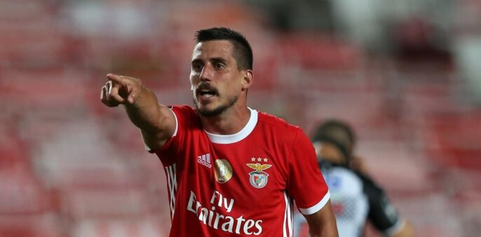 Gabriel Appelt em ação pelo Benfica