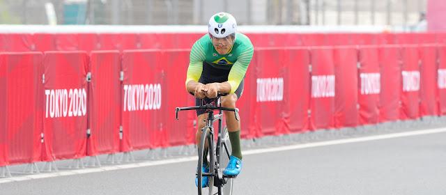 Carlos Alberto Gomes ficou apenas em 31º no ciclismo estrada no C1, nas Paralimpíadas de Tóquio 2020