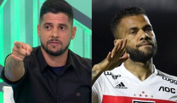 Cicinho mandou recado para Daniel Alves.