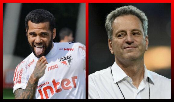 Daniel Alves e Landim no Flamengo