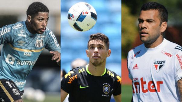 Marinho, Oscar e Daniel Alves no mercado da bola