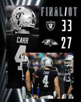 Las Vegas Raiders x Baltimore Ravens