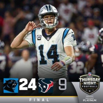 Placar: Texans x Panthers