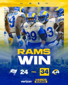 Rams x Buccaneers