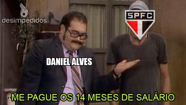 Daniel Alves deixou o São Paulo.
