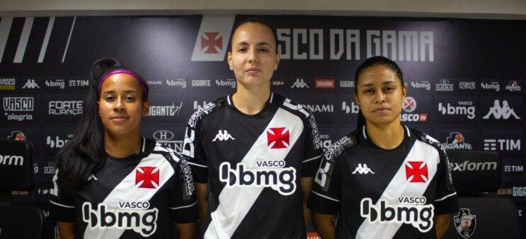 Milena, Camila e Carol são as novas atletas do Vasco