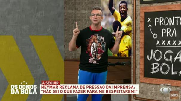 Neto criticou Neymar.