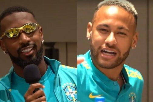 Neymar e Gerson seleção brasileira