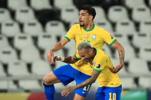 Neymar e Lucas Paquetá