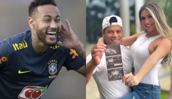 Neymar brinca com Hulk sobre sobrinha