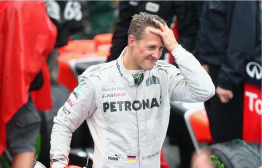 Esposa falou sobre Schumacher.