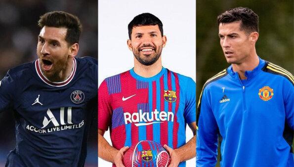 aguero cristiano ronaldo messi cr7 united barcelona city manchester