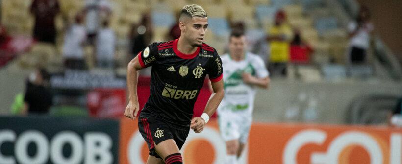Brasileirão: Andreas Pereira cobra com perfeição e faz 1º gol de falta do Flamengo em 3 anos contra o Juventude; assista