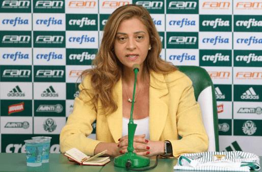 Leila irá assumir a presidência do Palmeiras.
