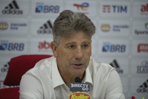Renato Gaúcho em entrevista coletiva no Flamengo
