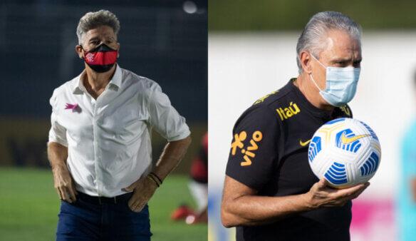 Renato Gaúcho e Tite em Flamengo e Seleção Brasileira